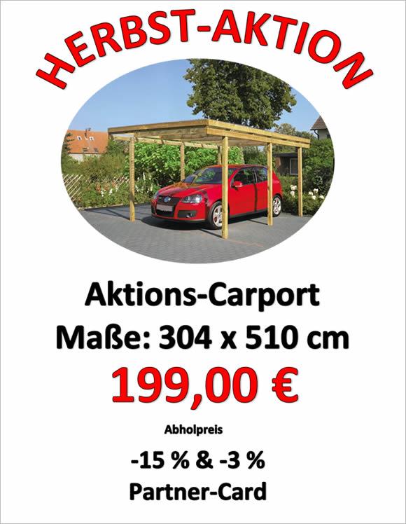 Carport aktion herbst hagebaumarkt wir helfen gerne for Hagebaumarkt carport